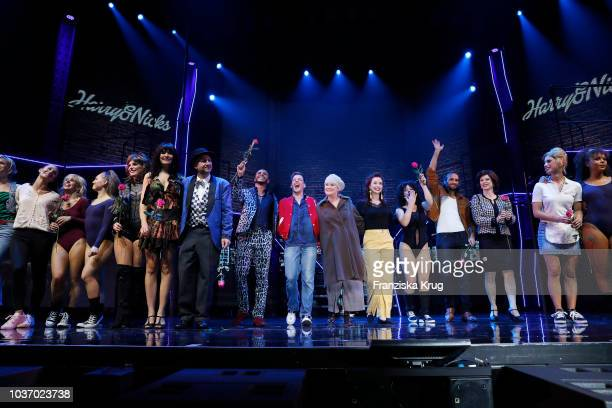 Nadja Scheiwiller and cast during the premiere of 'Flashdance Das Musical' at Mehr Theater on September 20 2018 in Hamburg Germany