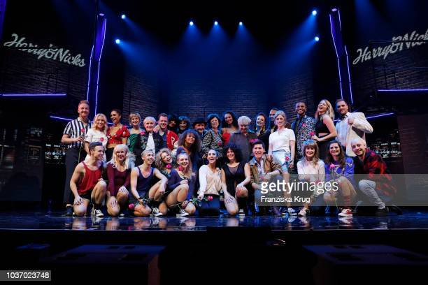 Nadja Scheiwiller and cast with Lilly Becker during the premiere of 'Flashdance Das Musical' at Mehr Theater on September 20 2018 in Hamburg Germany