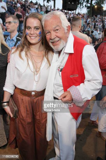 Nadja Scheiwiller and Claus Wilcke during the premiere of the Karl May Festival on June 29 2019 in Bad Segeberg Germany