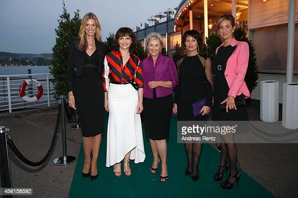 Nadja Schildknecht Juliette Binoche Tina Brown Doris Leuthard and Carolina MuellerMoehl attend the Women of Impact Reception during Day 2 of Zurich...