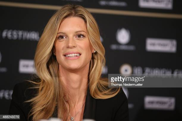 Nadja Schildknecht managing director of the Zurich Film Festival is seen during the press conference of the 10th Zurich Film Festival on September 11...
