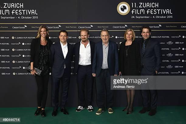 Nadja Schildknecht, Will Lorimer, director Stephen Frears, actor Ben Foster, Corrina Fowler and Karl Spoerri attend the 'The Program' Premiere during...