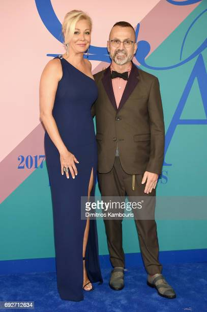 Nadja Swarovski and CFDA President and CEO Steven Kolb attend the 2017 CFDA Fashion Awards at Hammerstein Ballroom on June 5 2017 in New York City