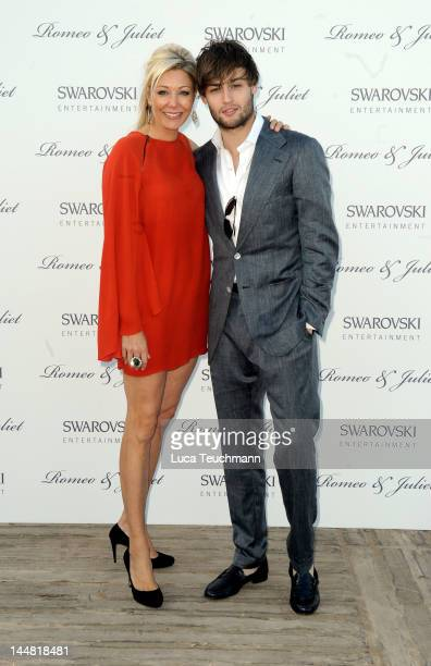 Nadja Swarovski and Douglas Booth attend the Swarovski Entertainment Presents Romeo Juliet during 65th Annual Cannes Film Festivalat the Majestic...
