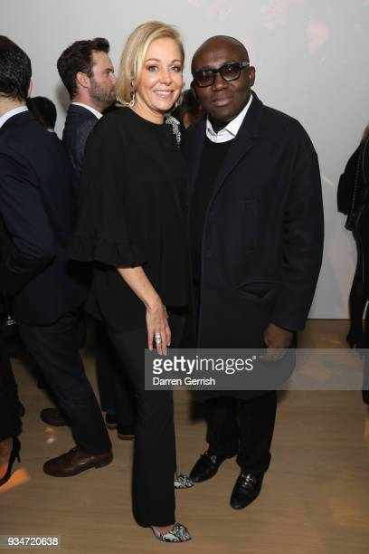 Nadja Swarovski and Edward Enninful attend Atelier Swarovski 10th Anniversary Book Launch at Phillips Gallery on March 19 2018 in London England