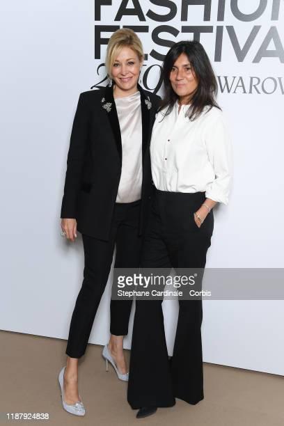 Nadja Swarovski and Emmanuelle Alt attends Vogue Fashion Festival Photocall At Hotel Potocki In Paris on November 15 2019 in Paris France