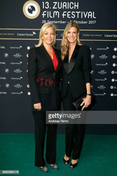 Nadja Swarovski and Festival director Nadja Schildknecht attend the 'The Wife' premiere at the 13th Zurich Film Festival on October 1 2017 in Zurich...