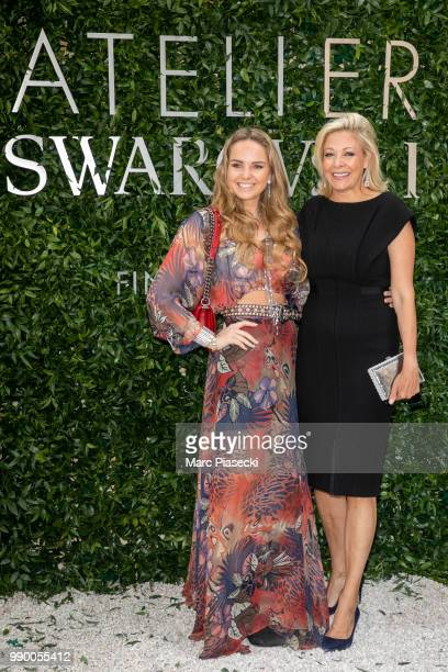Nadja Swarovski and guest attend the Atelier Swarovski Cocktail Of The New Penelope Cruz Fine Jewelry Collection as part of Paris Fashion Week on...