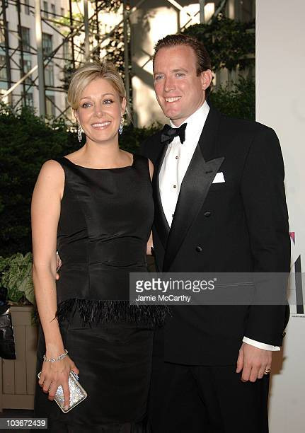 Nadja Swarovski and her husband Rupert Adams attend the 2008 CFDA Fashion Awards at The New York Public Library on June 2 2008 in New York City