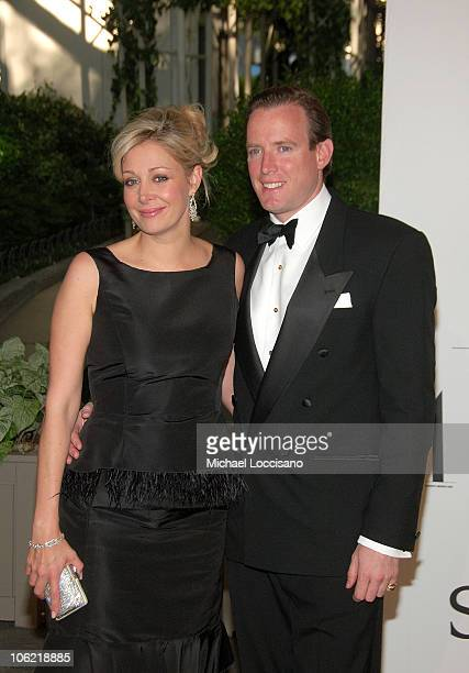 Nadja Swarovski and her husband Rupert Adams attend the 2008 CFDA Fashion Awards on June 2 2008 at the New York Public Library in New York City