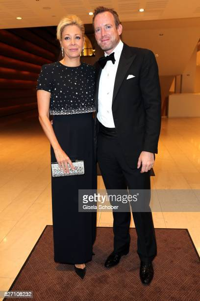 Nadja Swarovski and her husband Rupert Adams attend the 'Aida' premiere during the Salzburg Opera Festival 2017 on August 6 2017 in Salzburg Austria
