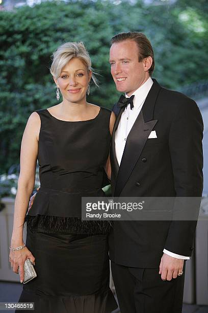 Nadja Swarovski and her husband Rupert Adams attends the 2008 CFDA Fashion Awards at The New York Public Library on June 2 2008 in New York City