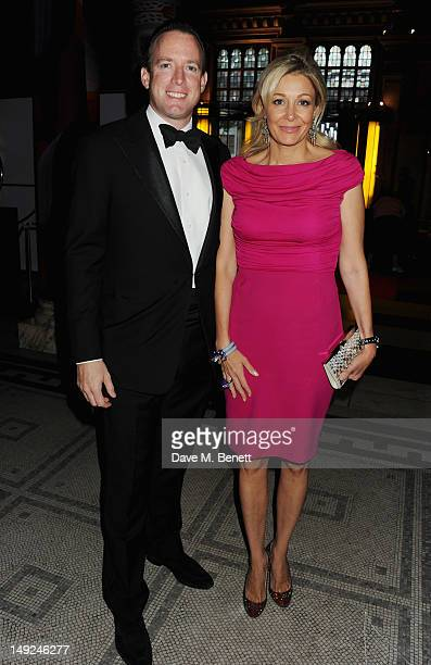 Nadja Swarovski and her husband Rupert Adams attends the Sports For Peace Fundraising Ball at The VA on July 25 2012 in London England