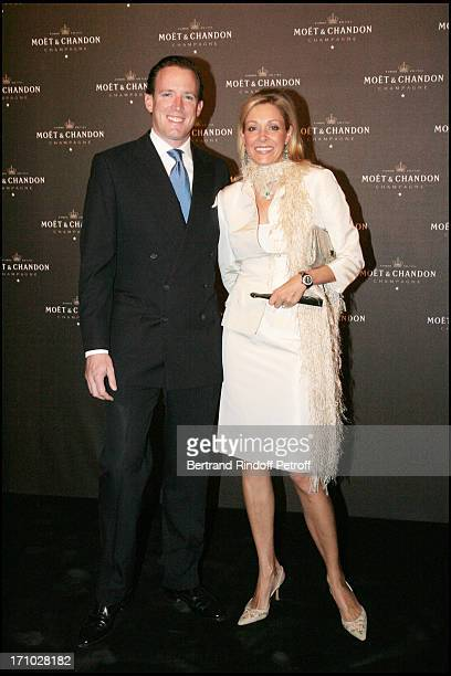 Nadja Swarovski and her husband Rupert Adams European launching dinner of the Grand Vintage 2000 champagne at the Musee De L'Homme