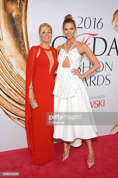 Nadja Swarovski and Karlie Kloss attend the 2016 CFDA Fashion Awards at the Hammerstein Ballroom on June 6 2016 in New York City