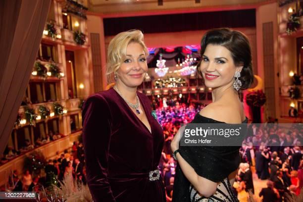 Nadja Swarovski and Leona Koenig during the Opera Ball Vienna at Vienna State Opera on February 20 2020 in Vienna Austria