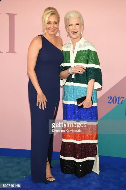 Nadja Swarovski and Maye Musk attend the 2017 CFDA Fashion Awards at Hammerstein Ballroom on June 5 2017 in New York City