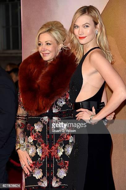 Nadja Swarovski and model Karlie Kloss attend The Fashion Awards 2016 on December 5 2016 in London United Kingdom