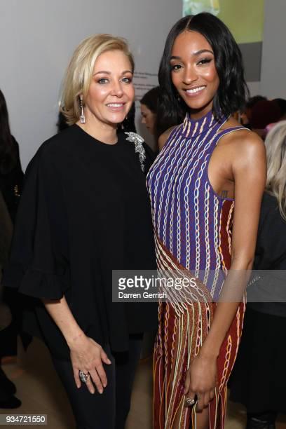 Nadja Swarovski and Nadja Swarovski attend Atelier Swarovski 10th Anniversary Book Launch at Phillips Gallery on March 19 2018 in London England