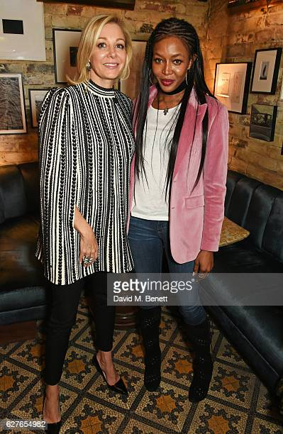 Nadja Swarovski and Naomi Campbell attend The Fashion Awards in partnership with Swarovski nominees' lunch hosted by the British Fashion Council with...