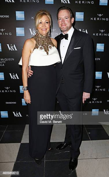 Nadja Swarovski and Rupert Adams arrive at the Alexander McQueen Savage Beauty Fashion Gala at the VA presented by American Express and Kering on...