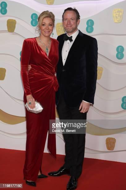 Nadja Swarovski and Rupert Adams arrive at the EE British Academy Film Awards 2020 at Royal Albert Hall on February 2 2020 in London England