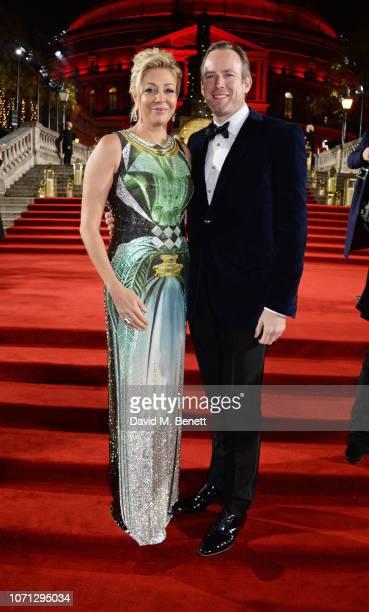 Nadja Swarovski and Rupert Adams arrive at The Fashion Awards 2018 in partnership with Swarovski at the Royal Albert Hall on December 10 2018 in...