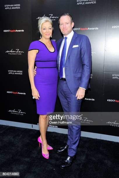 Nadja Swarovski and Rupert Adams attend 2017 Stephan Weiss Apple Awards at Urban Zen on June 7 2017 in New York City