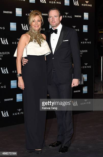 Nadja Swarovski and Rupert Adams attend a private view for the Alexander McQueen Savage Beauty exhibition at Victoria Albert Museum on March 12 2015...