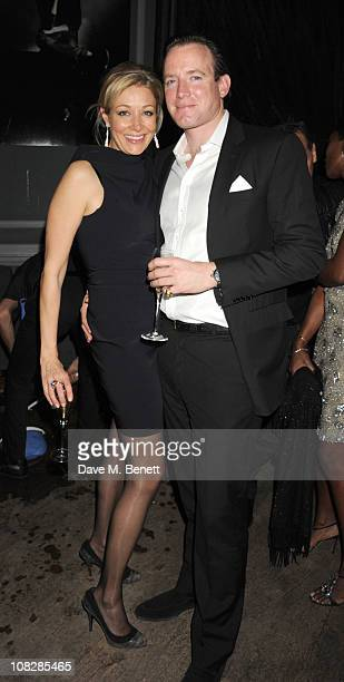 Nadja Swarovski and Rupert Adams attend Property developer Nick Candy's 38th Birthday celebrations at Home House private club on January 22 2011 in...
