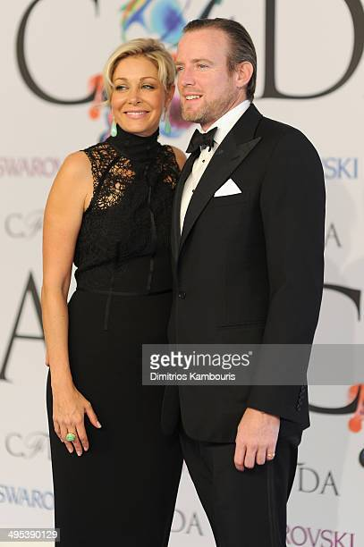Nadja Swarovski and Rupert Adams attend the 2014 CFDA Fashion Awards at Alice Tully Hall Lincoln Center on June 2 2014 in New York City