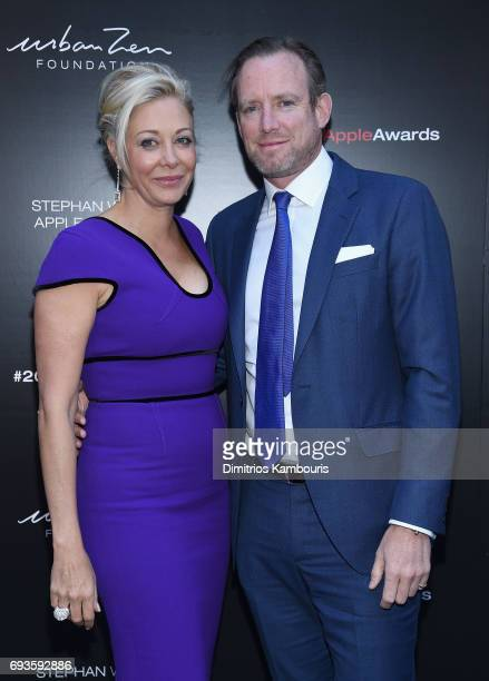 Nadja Swarovski and Rupert Adams attend the 2017 Stephan Weiss Apple Awards on June 7 2017 in New York City