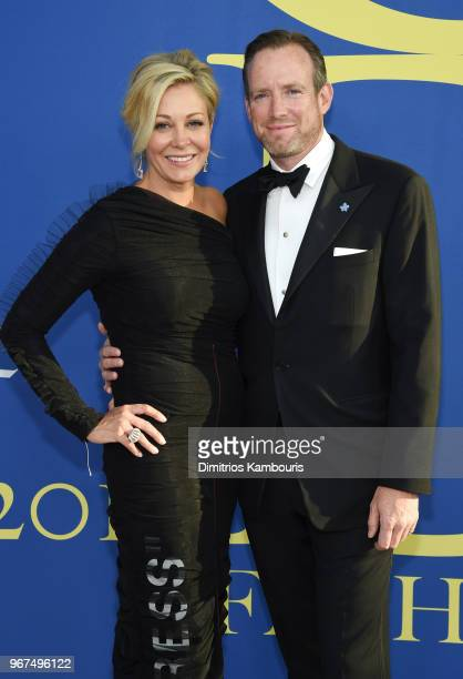Nadja Swarovski and Rupert Adams attend the 2018 CFDA Fashion Awards at Brooklyn Museum on June 4 2018 in New York City