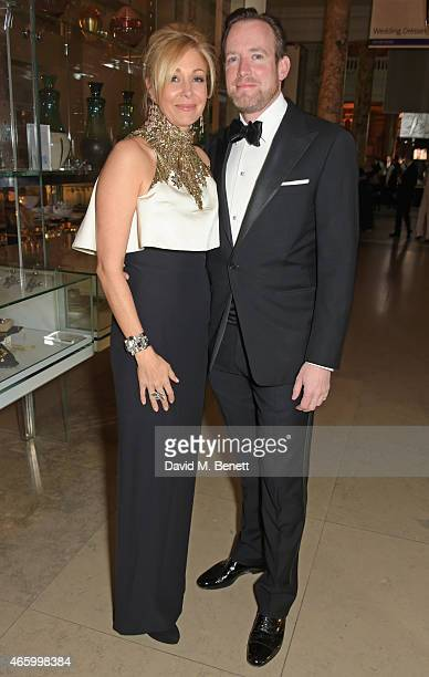 Nadja Swarovski and Rupert Adams attend the Alexander McQueen Savage Beauty Fashion Gala at the VA presented by American Express and Kering on March...