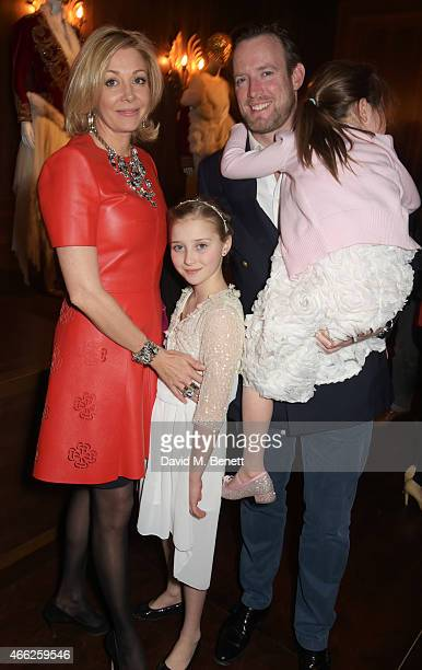 Nadja Swarovski and Rupert Adams attend the Alexander McQueen Savage Beauty VIP private view at the Victoria and Albert Museum on March 14 2015 in...