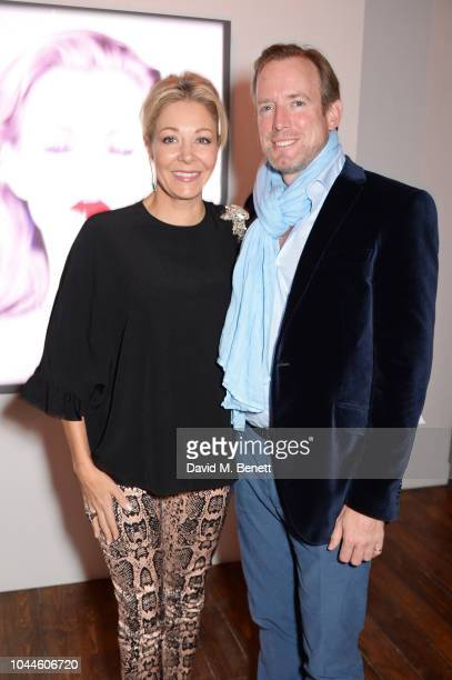 Nadja Swarovski and Rupert Adams attend the Chris Levine 'Inner [Deep] Space' in benefit of Elton John AIDS Foundation private view hosted by David...
