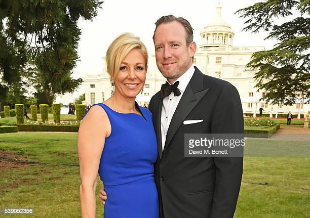 Nadja Swarovski and Rupert Adams attend the Duke of Edinburgh Award 60th Anniversary Diamonds are Forever Gala at Stoke Park on June 9 2016 in...