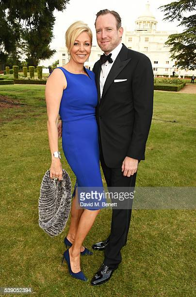 Nadja Swarovski and Rupert Adams attend the Duke of Edinburgh Award 60th Anniversary Diamonds are Forever Gala at Stoke Park on June 9 2016 in...