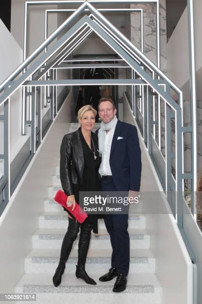 Nadja Swarovski and Rupert Adams attend the launch of new restaurant Brasserie Of Light at Selfridges on November 20 2018 in London England