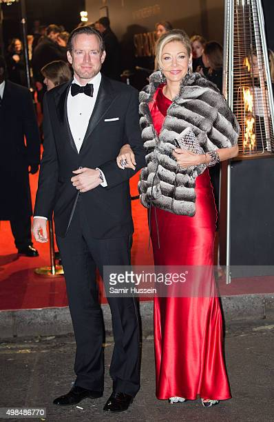 Nadja Swarovski and Rupert Adams attends the British Fashion Awards 2015 at London Coliseum on November 23 2015 in London England