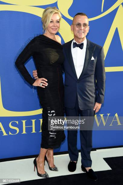 Nadja Swarovski and Steven Kolb attend the 2018 CFDA Fashion Awards at Brooklyn Museum on June 4 2018 in New York City