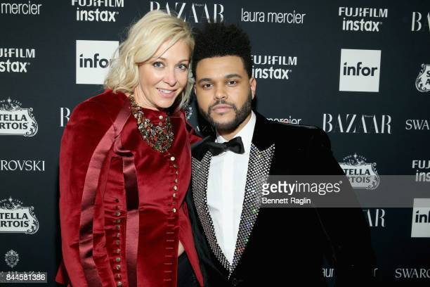 Nadja Swarovski and The Weeknd attend Harper's BAZAAR Celebration of 'ICONS By Carine Roitfeld' at The Plaza Hotel presented by Infor Laura Mercier...