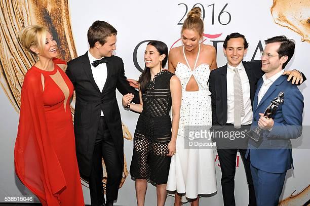 Nadja Swarovski Ansel Elgort Samantha Orley Karlie Kloss Alex Orley and Matthew Orley attend the 2016 CFDA Fashion Awards at the Hammerstein Ballroom...