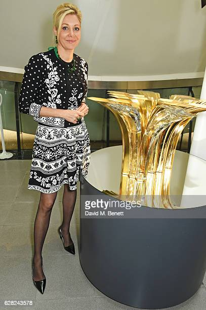 Nadja Swarovski attends a press view of 'Zaha Hadid Early Paintings And Drawings at The Serpentine Sackler Gallery on December 7 2016 in London...