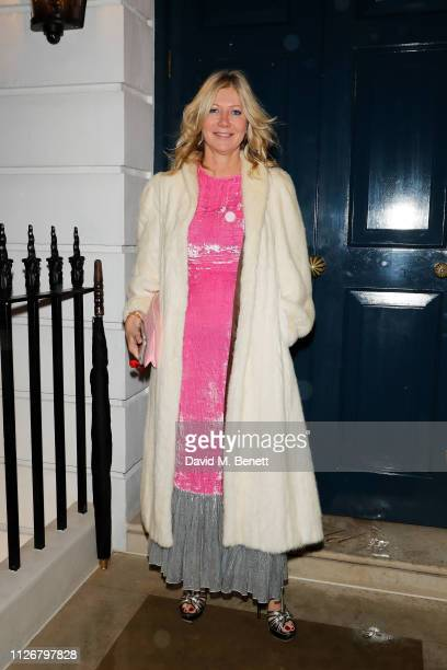 Nadja Swarovski attends the SGC Wine circle Dinner extravaganza at Oswald's organized by Arnaud Christiaens on February 01 2019 in London England