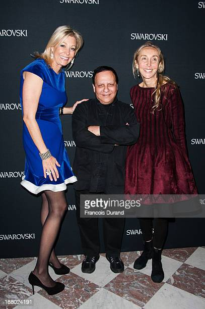 Nadja Swarovski Azzedine Alaia and Carla Sozzani attend the Swarovski Dinner In Honor of the Bouroullec Brothers at Chateau de Versailles on November...