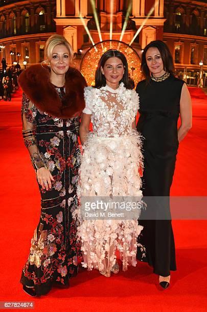 Nadja Swarovski Dame Natalie Massenet and Caroline Rush attend The Fashion Awards 2016 at Royal Albert Hall on December 5 2016 in London United...