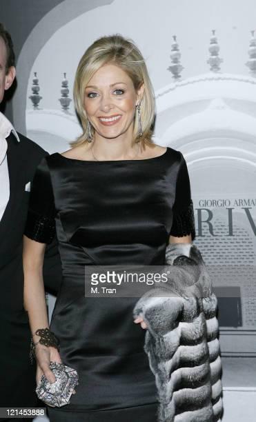 Nadja Swarovski during Giorgio Armani Celebrates 2007 Oscars with Exclusive Prive Show at Green Acres Estates in Beverly Hills California United...