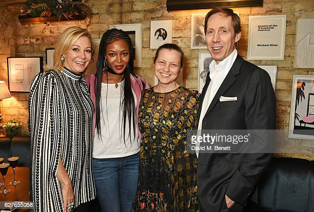 Nadja Swarovski Naomi Campbell Charlotte Knight and Nick Knight attend The Fashion Awards in partnership with Swarovski nominees' lunch hosted by the...