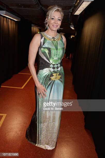 Nadja Swarovski poses backstage at The Fashion Awards 2018 in partnership with Swarovski at the Royal Albert Hall on December 10, 2018 in London,...